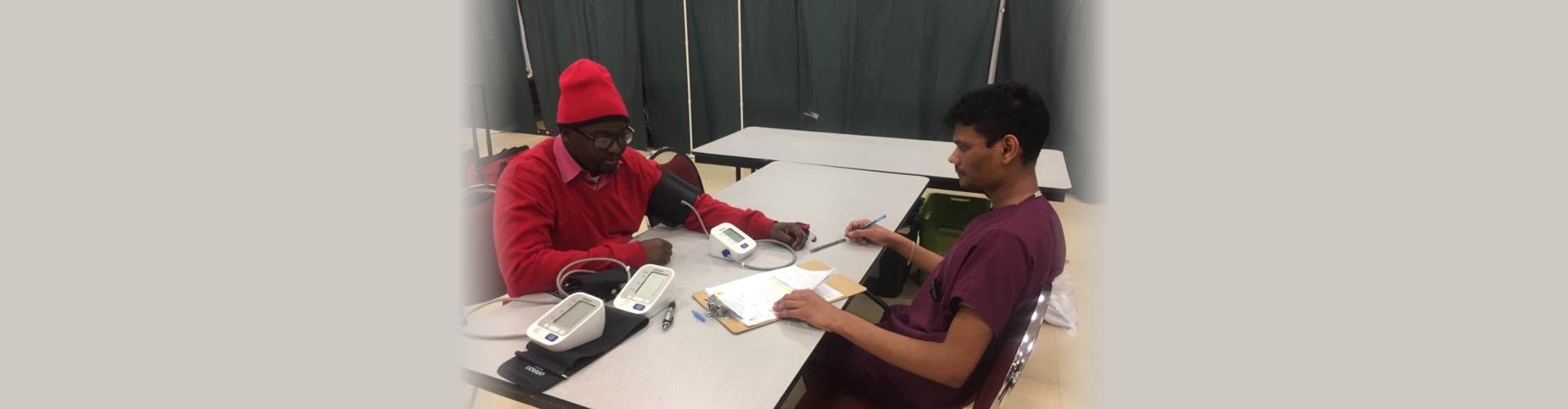 patient undergoing consultation